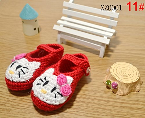 Besto Baby Hand Made Prewalker Crib Crochet Casual Baby Knit Sock Infant Hello Kitty Shoes 0-12M back-1077723
