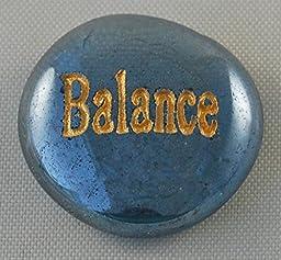 Balance Glass Engraved Spirit Word Stones Sold Individually