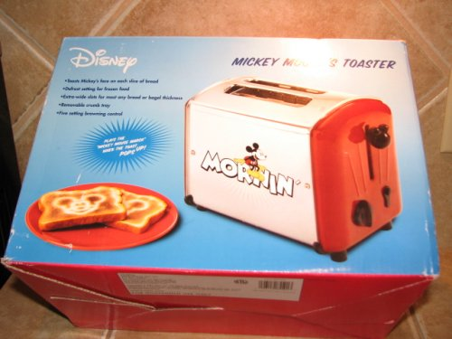 rare red MICKEY MOUSE musical toaster by VillaWare 5555-11-R (Mickey Mouse Musical Toaster compare prices)