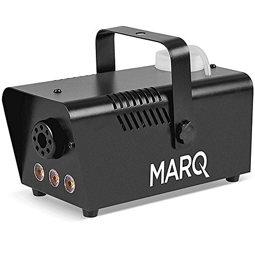 MARQ Fog 400 LED | 400W Water-Based Special Effects Fog Machine with Amber-Color LED Lights (Black) (Smoke Machine Portable compare prices)