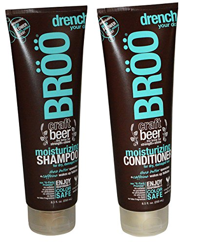 BROO Craft Beer Moisturizing Shampoo and Conditioner Hop Flower 100% natural Scent Color Safe and Vegan (Craft Beer Shampoo compare prices)