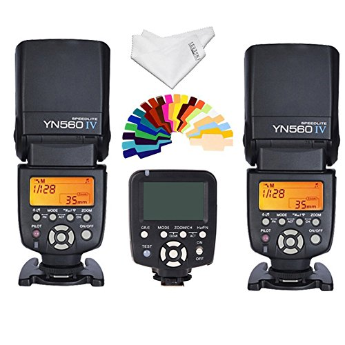 Yongnuo-YN-560IV-2PCS-Wireless-Flash-Speedlite-kit-YN560-TX-LCD-Flash-Trigger-Remote-Controller-For-Canon-DLSR-Cameras