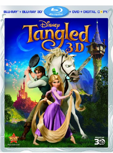 Cover art for  Tangled (Four-Disc Combo: Blu-ray 3D / Blu-ray / DVD / Digital Copy)