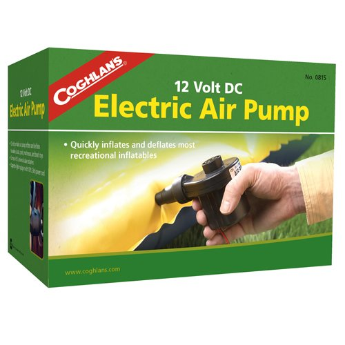 Coghlans Sleeping Gear Air Pumps 12v elektrische Luftpumpe Schlauchboote Handlich Ventil-Adapter