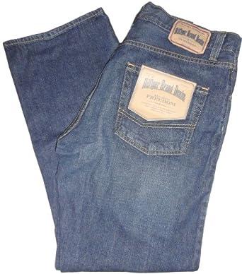 Men's Tommy Hilfiger Relaxed Fit Dark Denim Blue Jeans Size 32W x 30L
