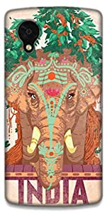 The Racoon Lean Indian Elephant hard plastic printed back case / cover for LG Nexus 5