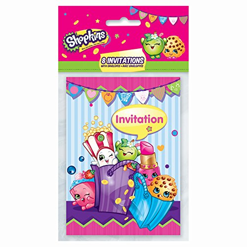 Cheapest Prices! Shopkins Invitations, 8ct