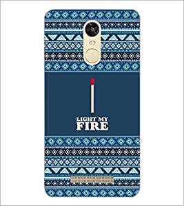 PrintDhaba Quote D-3112 Back Case Cover for XIAOMI REDMI NOTE 3 MEDIATEK (Multi-Coloured)