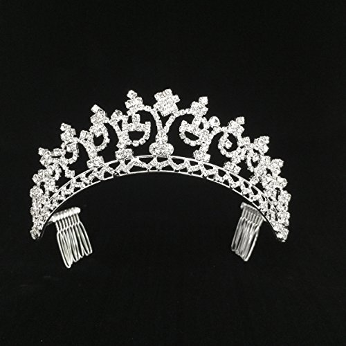 Bridal Prom Hair Accessory Tiara Crown Comb for Wedding Special Occasion