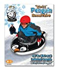 Aqua Leisure Winter Inflatable Yeti Penguin Snow Tube Sled  for 1 ( One ) Single Rider on Sledding Hill, Fast yet Safe, with 2 ( Two ) Big Durable Grip Handles and Repair Kit, 37