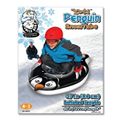 Buy Aqua Leisure Winter Inflatable Yeti Penguin Snow Tube Sled for 1 ( One ) Single Rider on Sledding Hill, Fast yet Safe,... by Aqua Leisure
