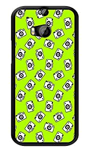 """Humor Gang Camera Life Green Printed Designer Mobile Back Cover For """"HTC ONE M8 - HTC ONE M8S"""" (3D, Glossy, Premium Quality Snap On Case)"""