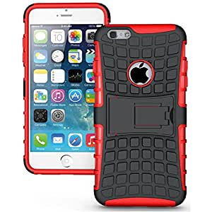 Eccelere dual armor kickstand hybrid case for iPhone 6 (Red)