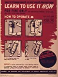"Vintage Poster - Learn to use it NOW-Soda Acid Hand Fire Extinguisher - 24""x1..."