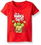 "Teenage Mutant Ninja Turtles Little Boys' Valentine's Day ""Im A Knock Out"" T-Shirt, Red, 3T"