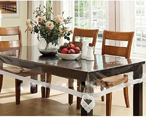 Kuber Industries Dining Table Cover Transparent 6 Seater
