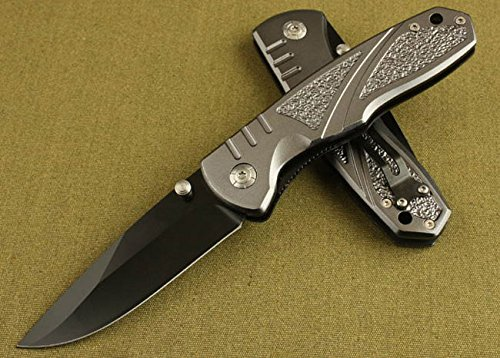 All Black Full Tang Pocket Folding Skinner Knife M003-8.26''