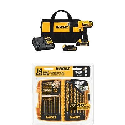 DEWALT DCD771C2 20V MAX Lithium-Ion Compact Drill/Driver Kit