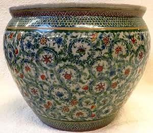 Paisley swirl chinese porcelain fish bowl 20 for Fish bowl amazon