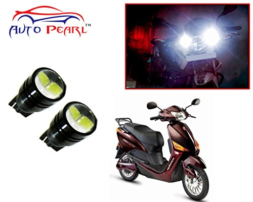 Auto Pearl - LED Parking Bulb Pilot Light / Daytime Running Lens Led Pilot Light 2 LED-Black (White Color) For - Hero Electric Optima Plus Burgundy  available at amazon for Rs.299