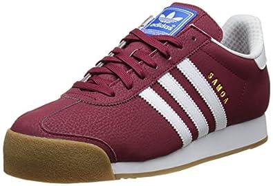 adidas Originals Men's Samoa Retro Sneaker,Collegiate Burgundy/Running White/Metallic/Gold,4.5 M US