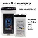 Dalanzom Universal Float Waterproof Cell Phone Case Dry Bag Pouch (With Headphone Jack,Armband,Lanyard) for iPhone 6,6S,6 Plus,6S Plus, Samsung Galaxy S5,S6,S7,Edge,Note 4,5,LG G3,G4,G5 (Transparent)