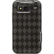 Amzer 89788 Luxe Argyle High Gloss TPU Soft Gel Skin Case - Smoke Grey For Motorola DEFY Plus, Motorola DEFY MB525...