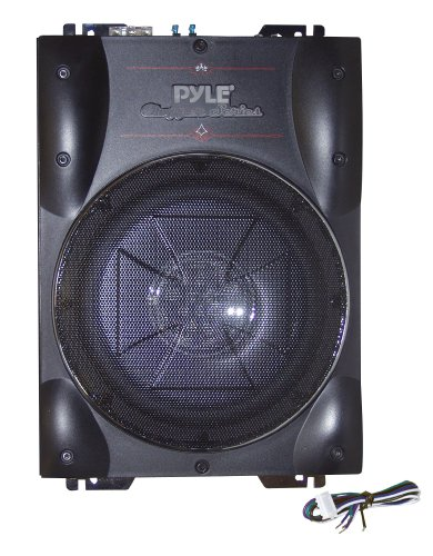 pyle low profile active subwoofer system under seat bass. Black Bedroom Furniture Sets. Home Design Ideas