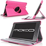 MoKo Cover Case for Amazon Kindle 4 (2012 Latest Generation and 2011 version), 6 - Inch E Ink Display, NO Keyboard, NON-TOUCH, MAGENTA