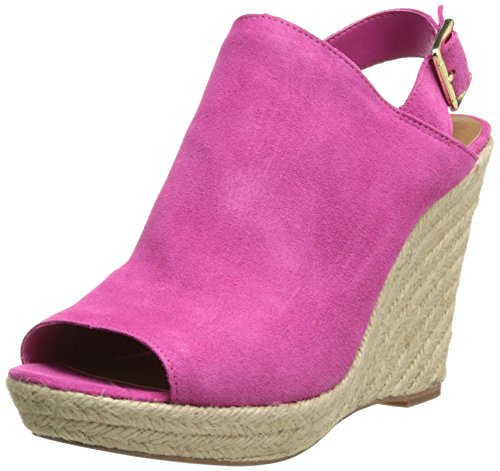 Steve Madden Women'S Corizon Wedge Sandal,Pink Suede,9 M Us front-948066