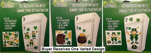 Large Magnetic St Patrick's Day Refrigerator Dishwasher Locker Decoration - Varied Design (Refrigerator Dishes compare prices)