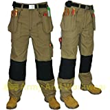 Click Hexham Canvas Triple Stitched Tuff Pro Work Trouser Nail Pocket Combat New
