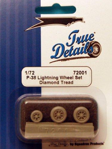 True Details P-38 Lightning Wheel Set - 1
