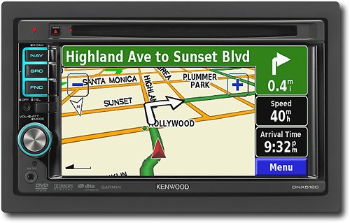 Kenwood DNX5120 6.1-Inch-Wide Double-DIN In-Dash Navigation with USB/iPod Direct Control/DVD