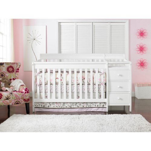 baby crib with changing table attached amazon