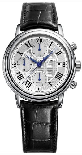 Raymond Weil Maestro Automatic Chronograph Steel Mens Strap Watch Date 7737-STC-00659