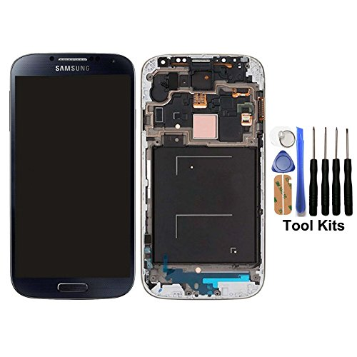 cellphoneage® for Samsung Galaxy S4 SIV New LCD Screen Replacement With Frame(GSM Models - T-Mobile M919 AT&T I337)Full Set Display Touch Screen Digitizer Assembly Touch Panel + Free Tool Kits (Black) (Samsung S4 Lcd Replacement compare prices)