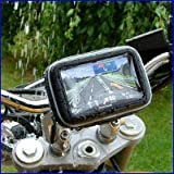 "Rupse 5"" Waterproof 360 Motorcycle Bike Cycling GPS SAT NAV Case/Bag w/Mount Holder New"
