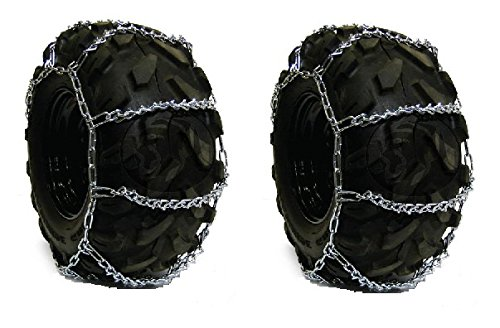 New Pair of 29x12x15 29x12.00-15 Snow Mud Traction TIRE CHAINS, 4-Link Spacing (13 X 4 Tire Chains compare prices)