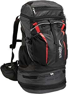 Buy Speedo Tri-Clops Backpack, 50-Liter, Black Grey Red by Speedo