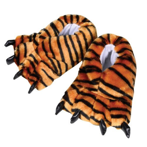 Kids Slippers Tiger Feet Soft Warm Novelty Childrens Slippers For Boys Or Girls