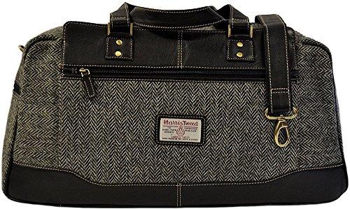 Harris-Tweed-Real-Leather-Holdall-Overnight-Bag