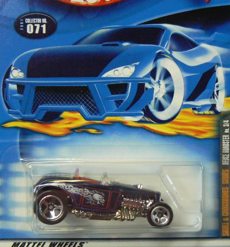 Skull and Crossbones Series #3 Deuce Roadster #2001-71 Collectible Collector Car Mattel Hot Wheels - 1