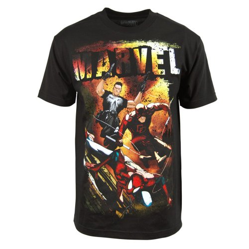 T-shirt Marvel Trio Supereroi Punisher, Daredevil and Spider-man Uomo ufficiale (S)