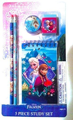 Disney Frozen Elsa and Anna 5-Piece Princess Scholar-Study Set
