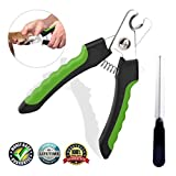 Dog Nail Clippers and Trimmer (Large-Size)- with Safety Guard to Avoid Over-Cutting Nails & Free Nail File - Razor Sharp Blades - Sturdy Non Slip Handles - for Safe, Professional at Home Grooming (1)
