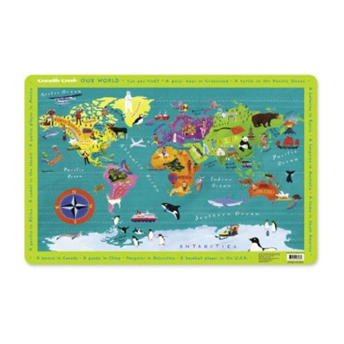 Crocodile Creek - World Map Placemat (2820-7)