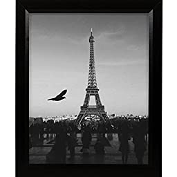 Craig Frames 7171610BK2026 0.825-Inch Wide Picture/Poster Frame in Wood Grain Finish, 20 by 26-Inch, Solid Black