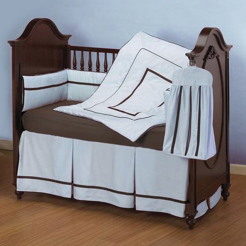 Baby Doll Bedding Hotel Style Crib Bedding Set, Blue