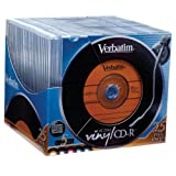 Verbatim 700 MB 52x 80 Minute Digital Vinyl Recordable Disc CD-R, 25-Disc Slim Cases 94588